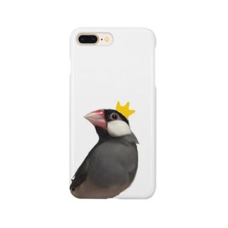 文鳥と王冠 Smartphone cases