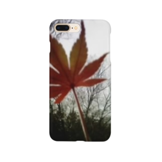 木立と紅葉 Smartphone cases
