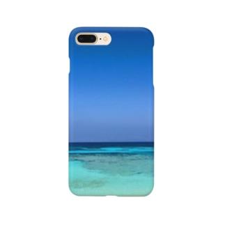 癒しのブルー。波照間島 Smartphone cases