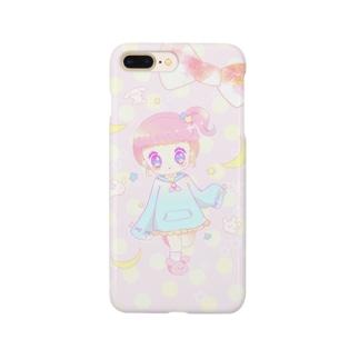 うさぎガール ぴんく Smartphone cases