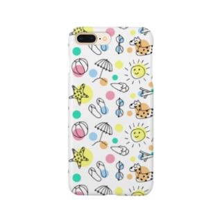 デザインショップ-アトリエの夏イラスト水玉 Smartphone Case