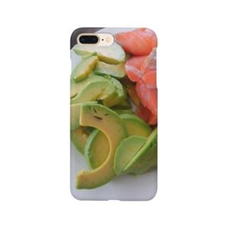 イースターのごちそう(笑うアボカドサーモン) Smartphone cases