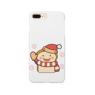 パン:雪だるま/ショッパン @気ままな雑貨屋さんらんず Smartphone cases