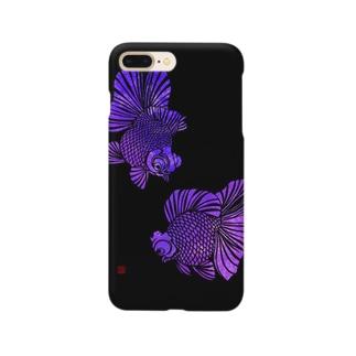 切り絵金魚 蝶尾--幻想-- Smartphone cases