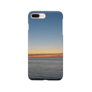 クリスマスの夜9時頃のメルボルンビーチ Smartphone cases