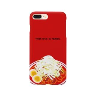 ラーメンケース辛 Smartphone cases