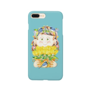 黄色いチューリップ Smartphone cases