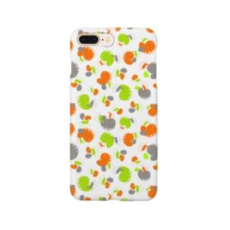 ウツボと小エビ柄(緑) Smartphone Case