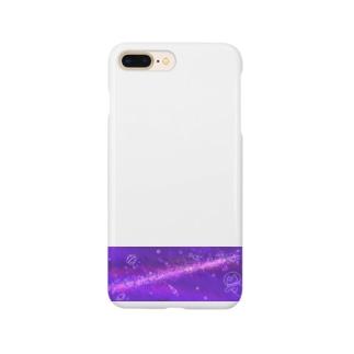 キラキラうちゅうにゃんこムラサキ Smartphone cases
