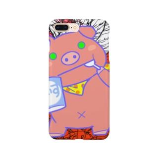 ブヒ2・特異点が豚の鼻? Smartphone cases