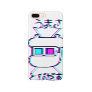 焼肉おじさんのツインカウ3Dうまさとびだす Smartphone cases