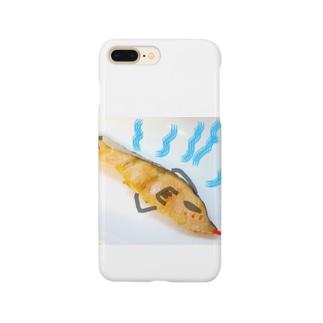 マブダチの強面紅鮭さん。ホットバージョン。 Smartphone cases