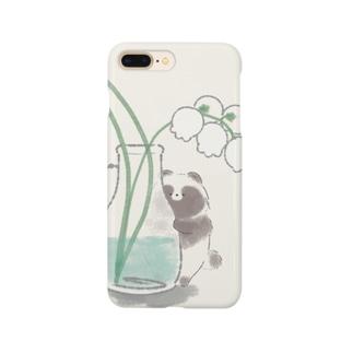 すずらんとたぬき Smartphone cases