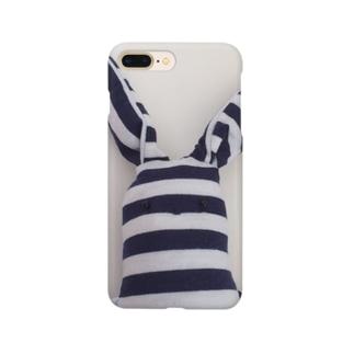 たてしまよこしまななめしまちゃんの顔 Smartphone cases