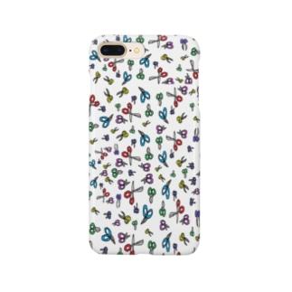 はさみ大好き Smartphone cases