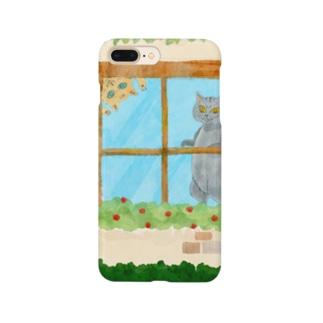 窓辺のねこたち Smartphone cases
