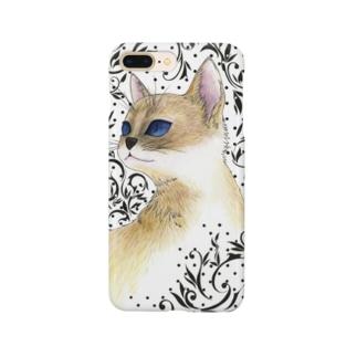 猫と唐草模様 Smartphone Case