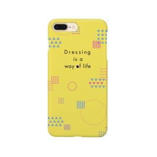 幾何学模様 黄色 Smartphone Case