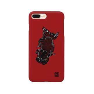 切り絵金魚 ランチュウ --歌舞伎-- Smartphone cases