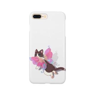 ハチワレ猫の妖精さん Smartphone cases