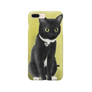 黒猫タビー ミミ太郎君 Smartphone cases