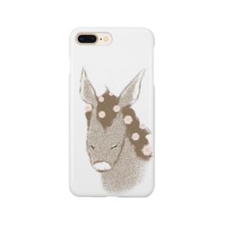 花散るロバ Smartphone cases