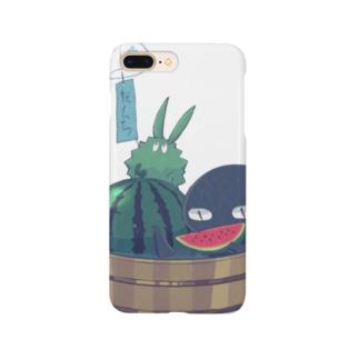 トゲトゲとトカゲ(夏) Smartphone cases