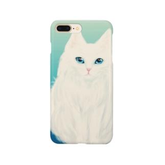 白猫さんさわやかさん Smartphone cases
