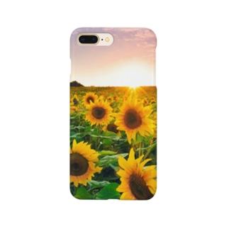ひまわりの朝 Smartphone cases