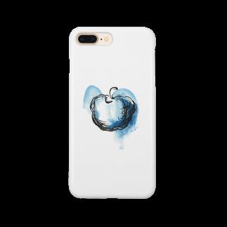eauのBlue apple Smartphone cases