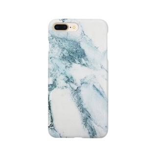 ブルー大理石 Smartphone cases