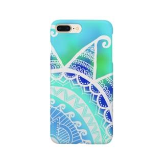 MandalaSummer【マンダラサマー】Blue Smartphone cases