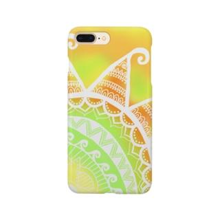MandalaSummer【マンダラサマー】Yellow Smartphone cases