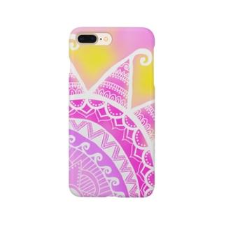MandalaSummer【マンダラサマー】Pink Smartphone cases
