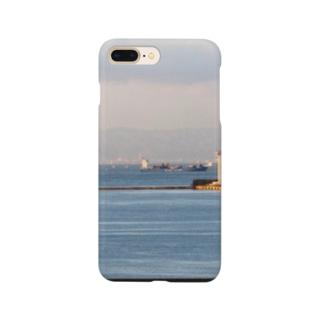 兵庫県:神戸付近の海の風景 Hyogo: view of the sea around Kobe Smartphone cases