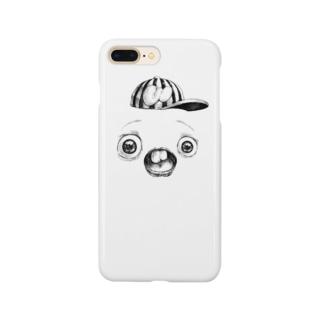 さちおくんの顔の写真 Smartphone cases