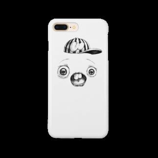 キャットタング鈴原のさちおくんの顔の写真 Smartphone cases