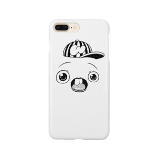 さちおくんの顔の絵 Smartphone cases