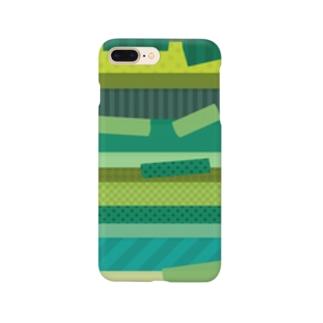 マスキングテープ グリーン Smartphone cases