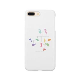 小笠原家系図グッズ〈カラフル〉 Smartphone cases