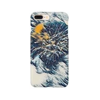 花火の波 Smartphone cases