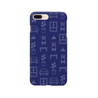 インテリアモチーフのスマホケース(ネイビー) Smartphone cases