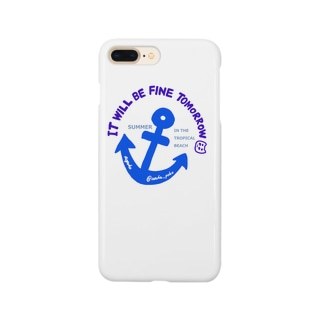 ぽこにゃんと海 Smartphone cases
