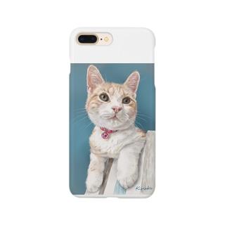 アメリカンショートヘアのボワちゃん猫絵 Smartphone cases