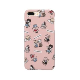 neko university ピンク Smartphone cases