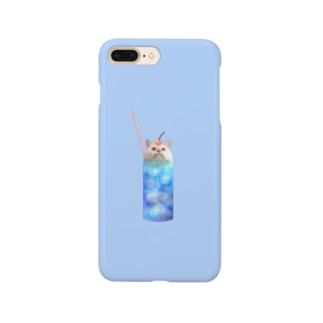 クリームソーダなまりおちゃん シンプルなスマホケース Smartphone cases