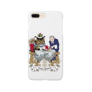 イリオモテヤマネコと執事さん(ディナー) Smartphone cases