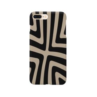 縞模様02 Smartphone cases