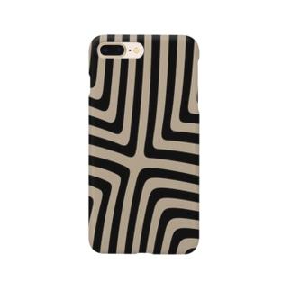 縞模様03 Smartphone cases
