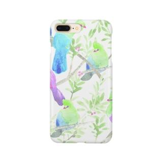 鳥 (エボシドリ) Smartphone cases